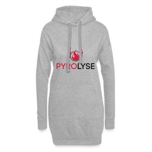 Pyrolyse Logo klein - Hoodie-Kleid