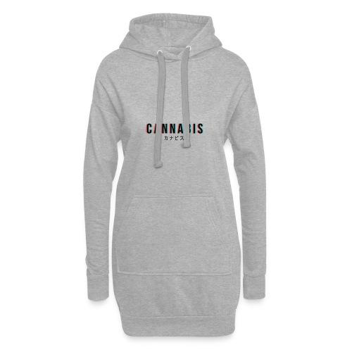CANNABIS - Długa bluza z kapturem