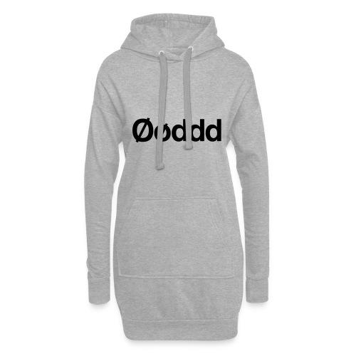 Øøddd (sort skrift) - Hoodie-kjole