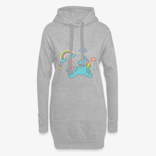colored unicorn - Hoodie Dress