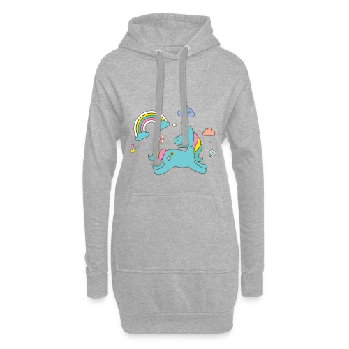 colored unicorn - Hoodie Dress
