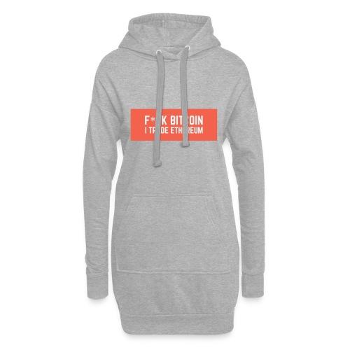 F*CK BITCOIN - Sweat-shirt à capuche long Femme