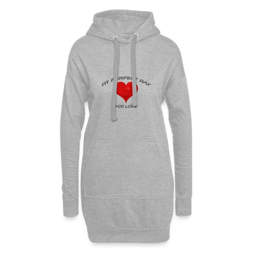 Mein Herzblatt finden - Hoodie-Kleid