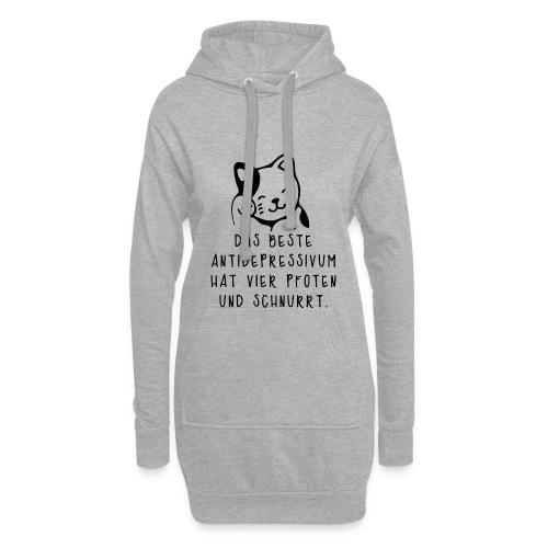Katzen sind das beste Antidepressivum - Hoodie-Kleid