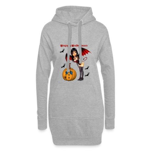 Happy Halloween Kürbis mit Fledermausgirl - Hoodie-Kleid