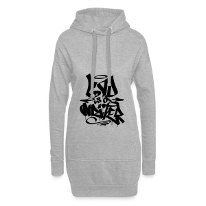 God is a Writer - Hoodie-Kleid