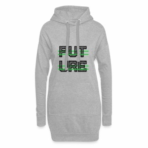 Future Clothing - Green Strips (Black Text) - Hoodie Dress