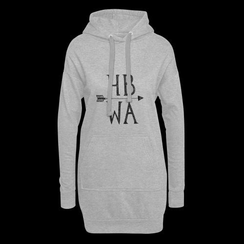 HBWA Logo Schwarz - Hoodie-Kleid