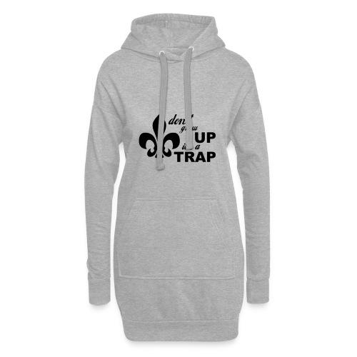 Don't grow up… Typo mit Lilie - Farbe frei wählbar - Hoodie-Kleid