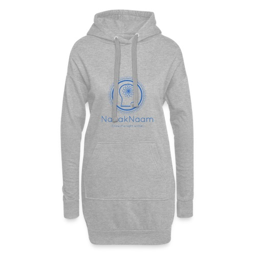 Nanak Naam Logo and Name - Blue - Hoodie Dress