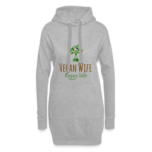 VEGAN WIFE - Sweat-shirt à capuche long Femme