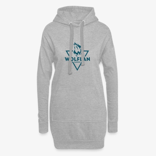 WolfLAN Logo Gray/Blue - Hoodie Dress