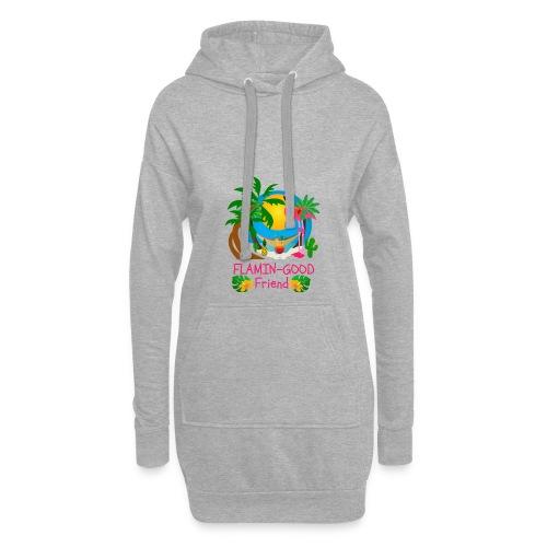 Cute Tropical Flamingo Hawaiian Design Sister Gift - Hoodie Dress