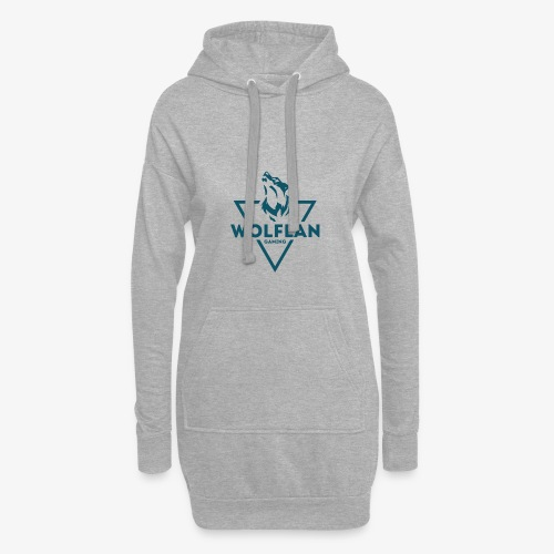 WolfLAN Logo Gray/Blue - Hoodie Dress