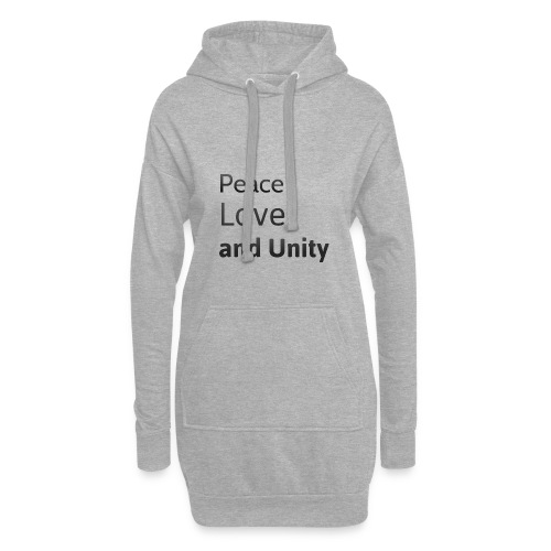 peace love and unity - Hoodie Dress