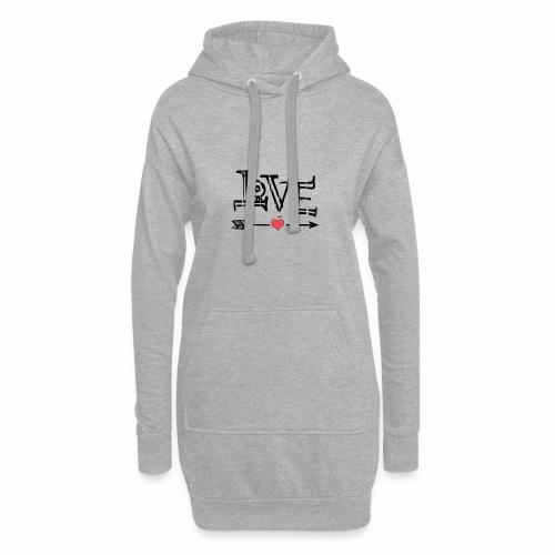 Love flêche - Sweat-shirt à capuche long Femme