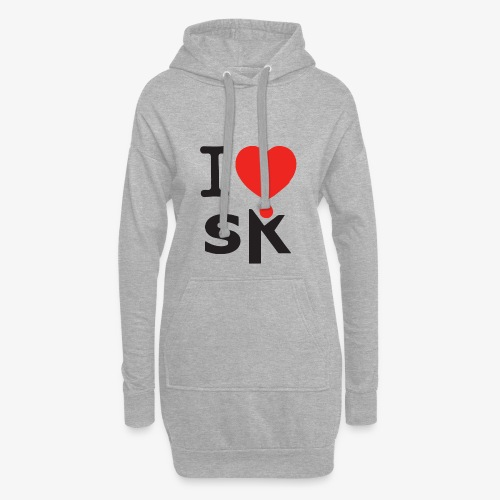 I Love SK - Sweat-shirt à capuche long Femme