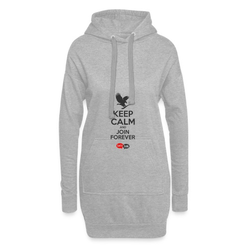 Keep Calm dark letters - Hoodie-Kleid