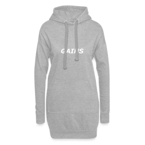 GAINS white text - Hoodie Dress