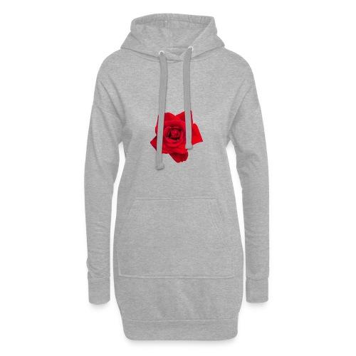 Red Roses - Długa bluza z kapturem