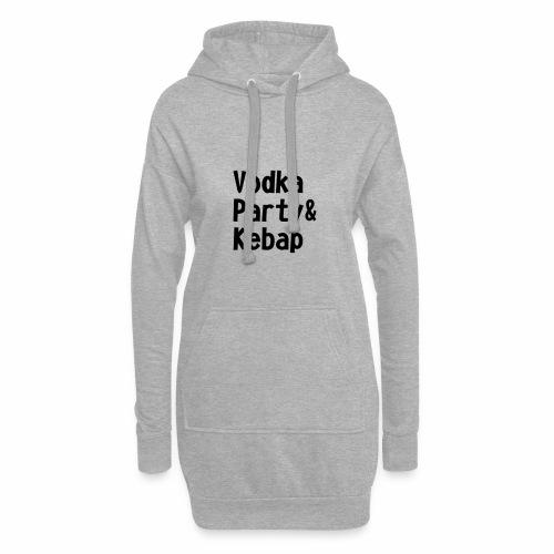 Vodka Party und Kebap - Hoodie-Kleid