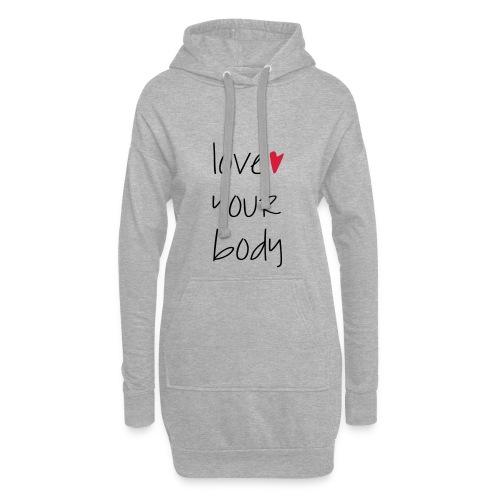 love your body - Hoodie-Kleid