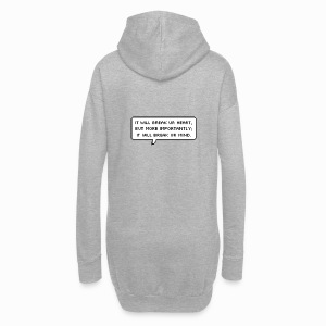Inspiring sentence - Sweat-shirt à capuche long Femme
