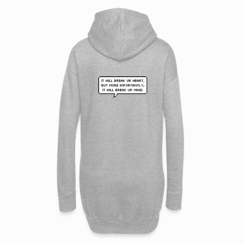 Inspiring sentence - Sweat-shirt à capuche long Femme