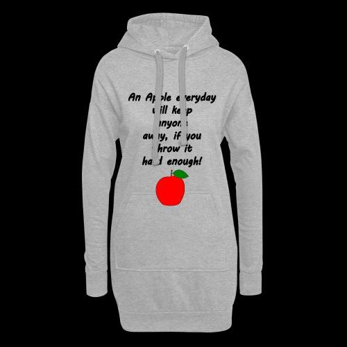 Apple Apfel Doctor Zitat Spruch Lustig - Hoodie-Kleid