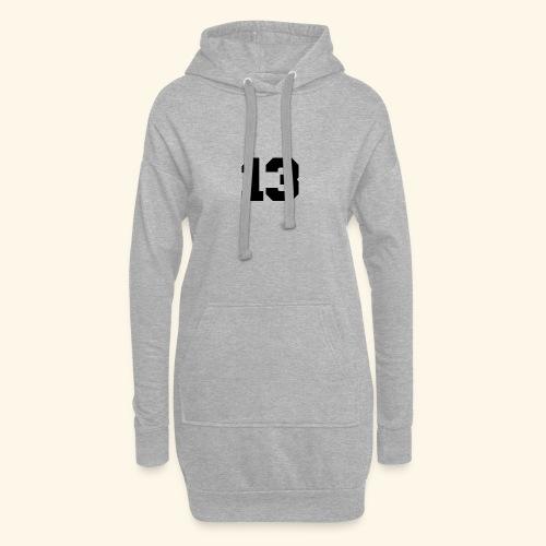 13 black - Hoodie-Kleid