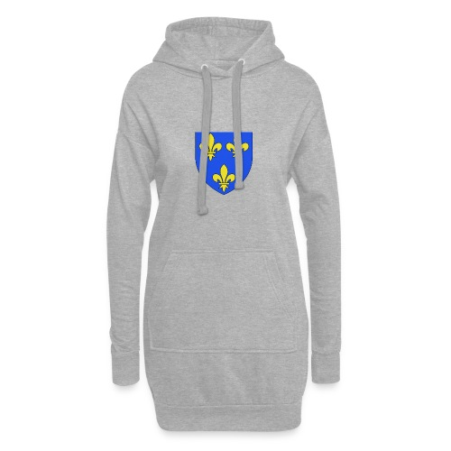 Blason royal 3 fleurs de Lys - Sweat-shirt à capuche long Femme