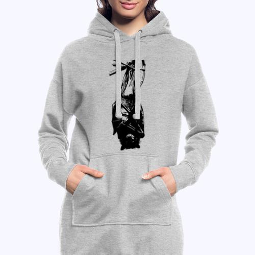 HangingBat schwarz - Hoodie-Kleid