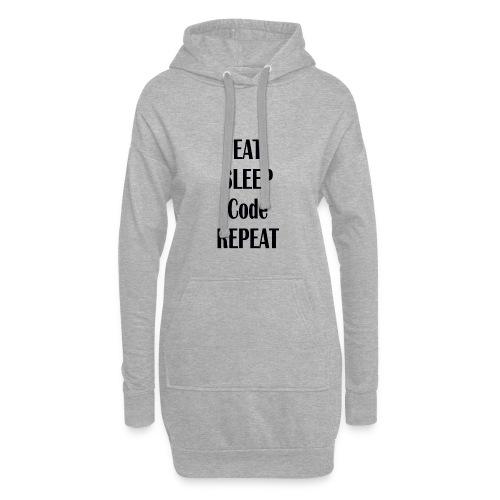 EAT SLEEP CODE REPEAT - Hoodie-Kleid