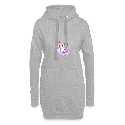unicornio - Sudadera vestido con capucha