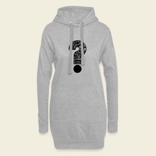 Warum folgen - Design schwarz - Hoodie-Kleid