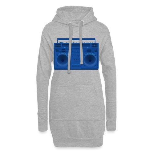 Bestes Stereo blau Design online - Hoodie-Kleid