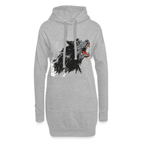 Cartoon Werwolf Design - Hoodie-Kleid