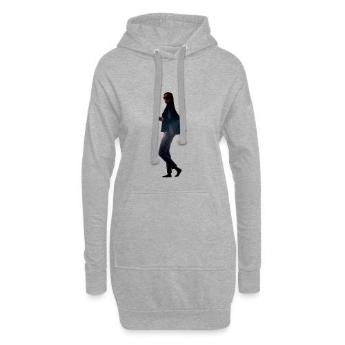 woman walking - Hoodie-Kleid