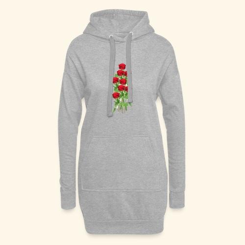 rote rosen - Hoodie-Kleid