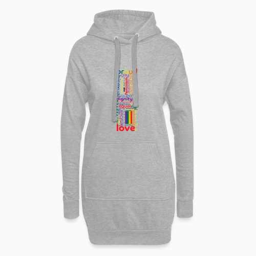 Pride Word Design - Hoodie Dress