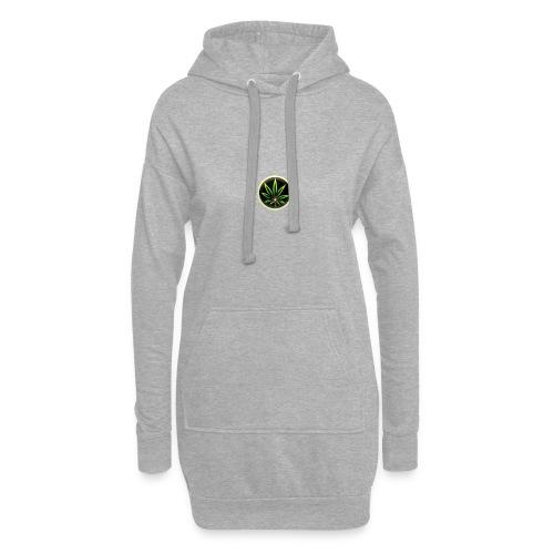cannabis-vue-densemble - Sweat-shirt à capuche long Femme