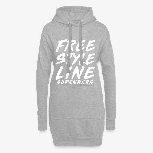 line brush white - Hoodie-Kleid