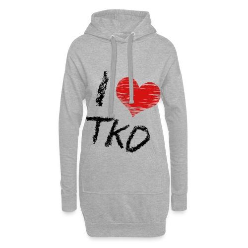 I love tkd letras negras - Sudadera vestido con capucha