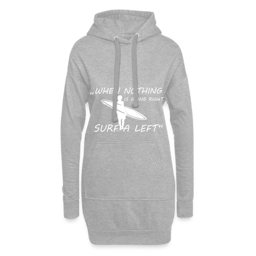 surf a left white - Hoodie-Kleid