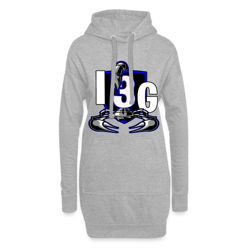 LOGO BLEU I3G - Sweat-shirt à capuche long Femme