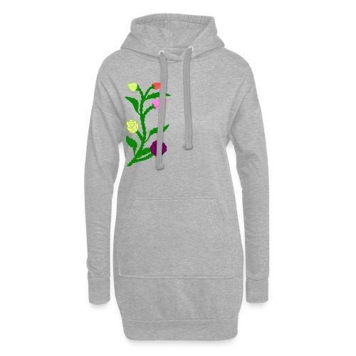 fleurs - Sweat-shirt à capuche long Femme