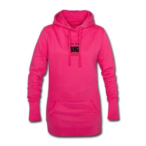I am the big boss - Sweat-shirt à capuche long Femme
