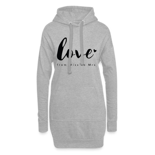 Braut Design from Miss to Mrs by Constant Love® - Hoodie-Kleid