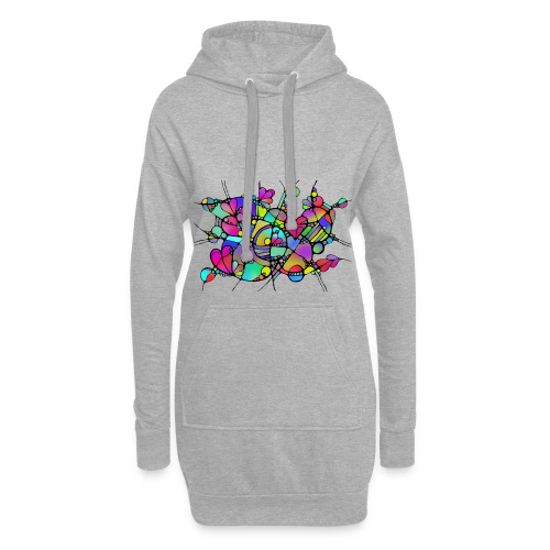 Abstrakte Kunst Neuro Art LOVE IS CRAZY 5 - Hoodie-Kleid