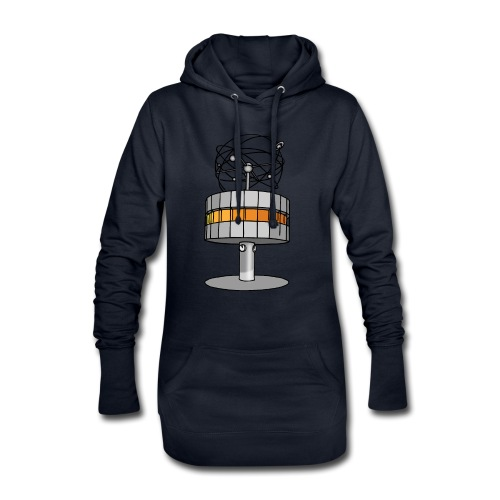 Weltzeituhr BERLIN c - Hoodie-Kleid